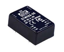 Meanwell SCW08B-12 - DC/DC converter Vin 18-36V Vout 12V 670mA SCW08B-12