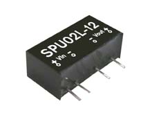 Meanwell SPU02M-15 - DC/DC converter unregulated Vin 12V Vout 15V 133mA SPU02M-15